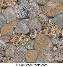 ciottolo, pietre, seamless, piastrella, fondo