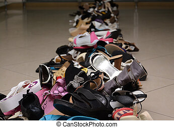 cipők, cölöp, női, különféle, hím, bolt