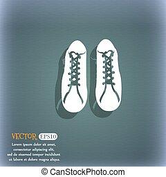cipők, hely, text., elvont, blue-green, vektor, icon., háttér, árnyék, -e