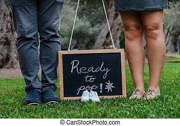 cipők, pala, atya, lábak, fekete, anya, csecsemő