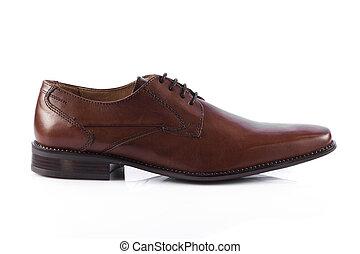 cipők, shoes., elszigetelt, bábu, háttér, white hím
