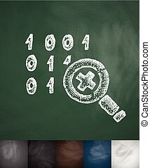 cipher icon. Hand drawn vector illustration