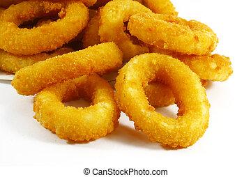 cipolla, cibo, anelli, digiuno, popolare, piatto, pietanza, lato