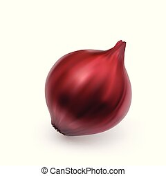 cipolla, isolato, fondo, bulbo, bianco, intero, rosso