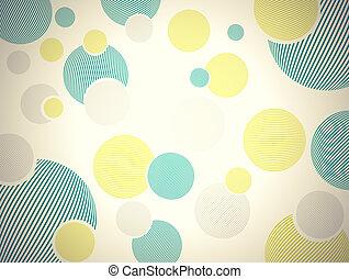 cir, abstract, retro, achtergrond