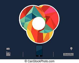 cir, vetorial, ilustração, coloridos