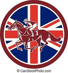 circ-uk-flag-icon, racingside, cavalier, cheval