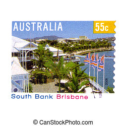 circa, 2008:, australijski, pocztowy, tłoczyć, odwołany