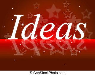circa, contemplazione, esso, idee, parola, pensare, mostra