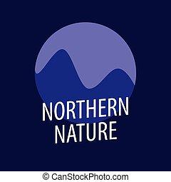 circa, emblema, andando gita, settentrionale, natura, viaggiare, o, rampicante, viaggiare, ditta, giornale, rotondo