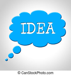 circa, mezzi, pensare, esso, idea, bolla pensiero, pensare