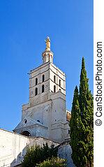 (circa, xii, nacional, avignon, francia, monumento, catedral...