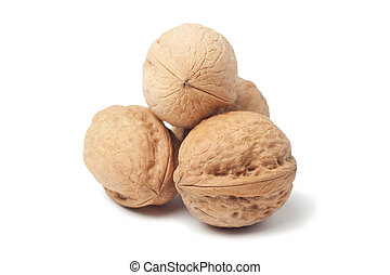 Circassian walnut isolated over white background