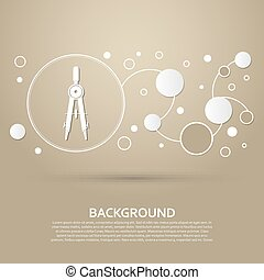 Circinus icon on a brown background with elegant style and modern design infographic. Vector