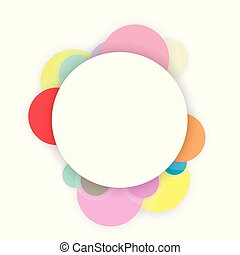 Circle abstract background frame banner vector illustration