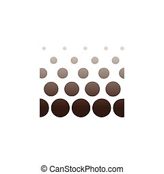 Circle abstract in square logo icon vector