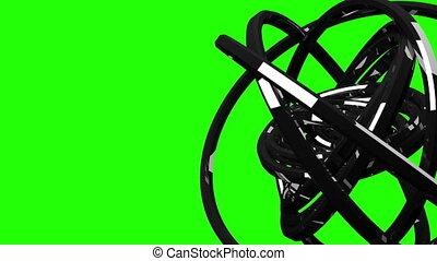Circle Abstract On Green Chroma Key - Loop Able Circle...