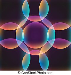 circle abstract vibrant background