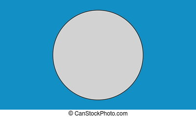 Circle against blue background - Close-up of circle against ...