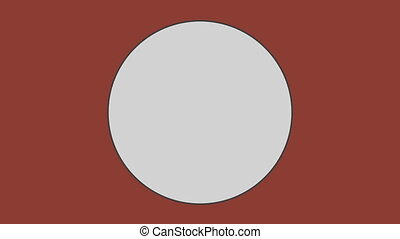 Circle against brown background - Close-up of circle against...