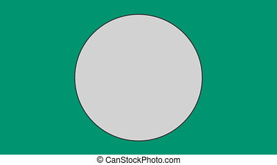 Circle against green background - Close-up of circle against...