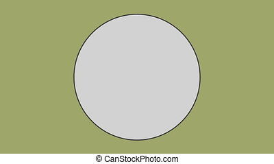 Circle against olive green background
