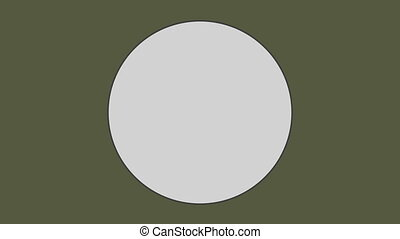 Circle against olive green background - Close-up of circle ...