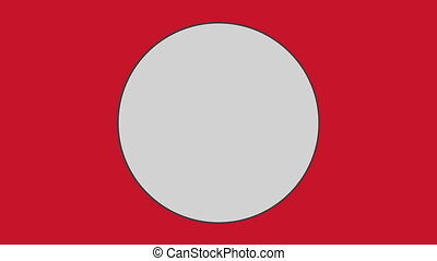 Circle against red background - Close-up of circle against...