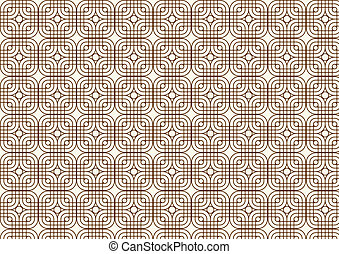 Circle and Rounded Corner Square Pattern on Pastel Color