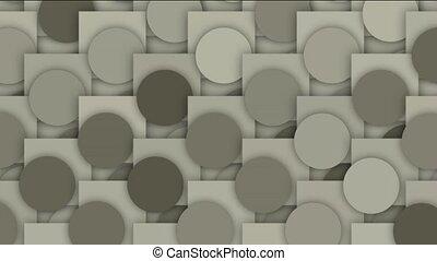 circle and square mosaics pattern