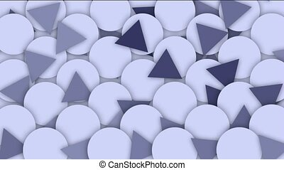 circle and triangle background