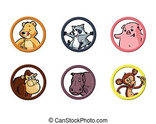 circle animal omnivore illustration