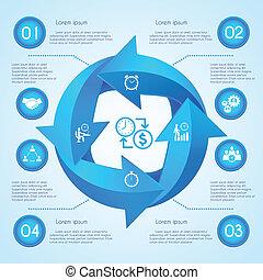 Circle arrow infographic - Circle arrow business infographic...