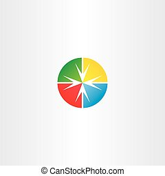 circle arrow target vector point icon