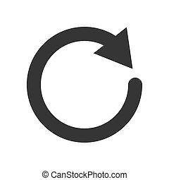 Circle arrow - vector.