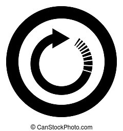 Circle arrow with tail effect Circular arrows Refresh update concept icon in circle round black color vector illustration flat style image