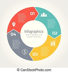 Circle arrows of infographic template for cycling diagram, graph, presentation and round chart.