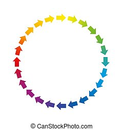 Circle Arrows Rainbow Colored Circuit