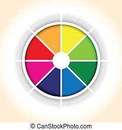 circle background - a circle colourful pie chart segment...