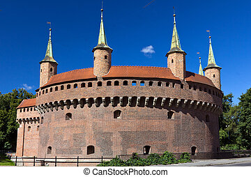 Circle Barbican in krakow in Poland