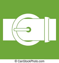 Circle belt buckle icon green