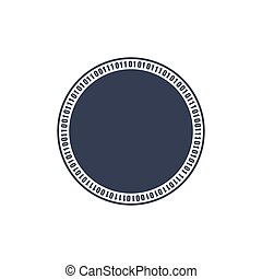 Circle binary circuit, future technology, cyber security concept, vector illustration.