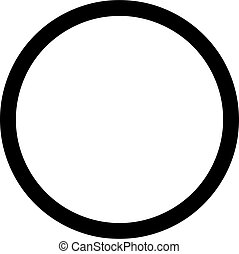 Circle black outline