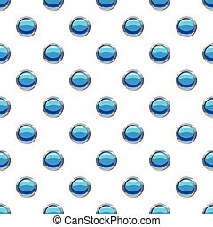 Circle blue button pattern