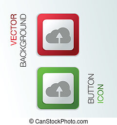 Circle blue icon with shadow. cloud download
