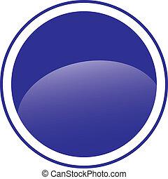 Circle blue sign blank