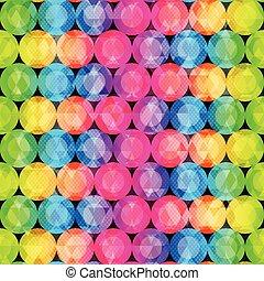 circle bright seamless pattern