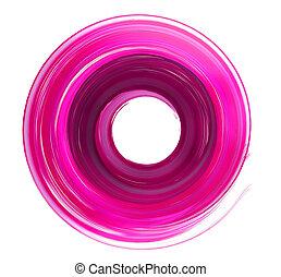 circle brush stroke 3d rendering pink