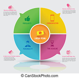 Circle business concept template - Infographics vector...