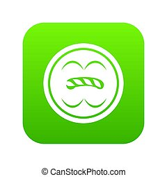 Circle button icon green